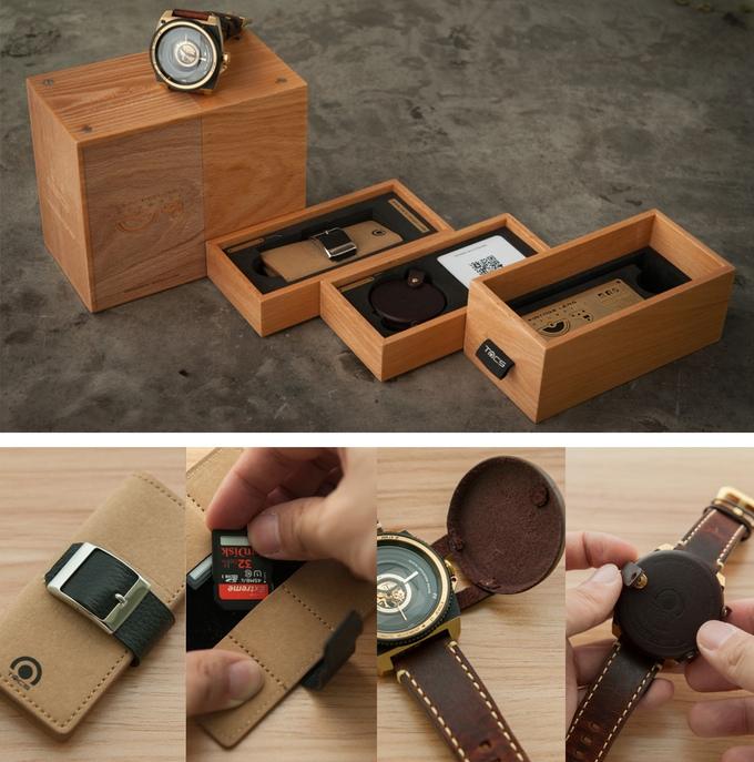 Eine schöne Uhr braucht auch eine schöne Verpackung (Bild: kickstarter/© Yuki Machino)