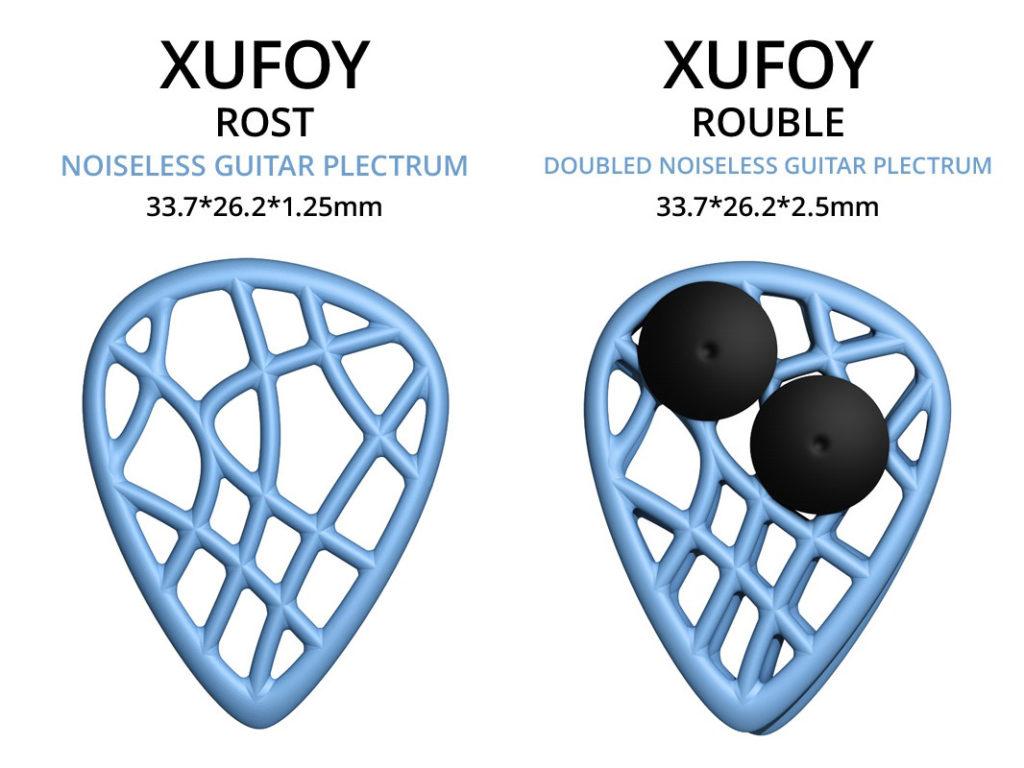 Gitarren-Plektren im Stealth-Modus - XUFOY Rost und Rouble (Bild: kickstarter/ © Malte Seidler)