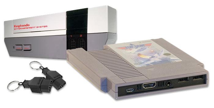 KEYTENDO und Pi3Cart holen NES-Style zurück ins Haus (Bilder: Kickstarter/© keytendo.com/© William Mauldin)