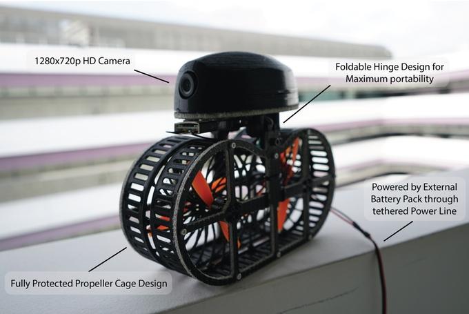 Mehr, als nur heiße Luft? Tonbo, die Ventilator-Drohne (Bild: kickstarter/©:Dsin)